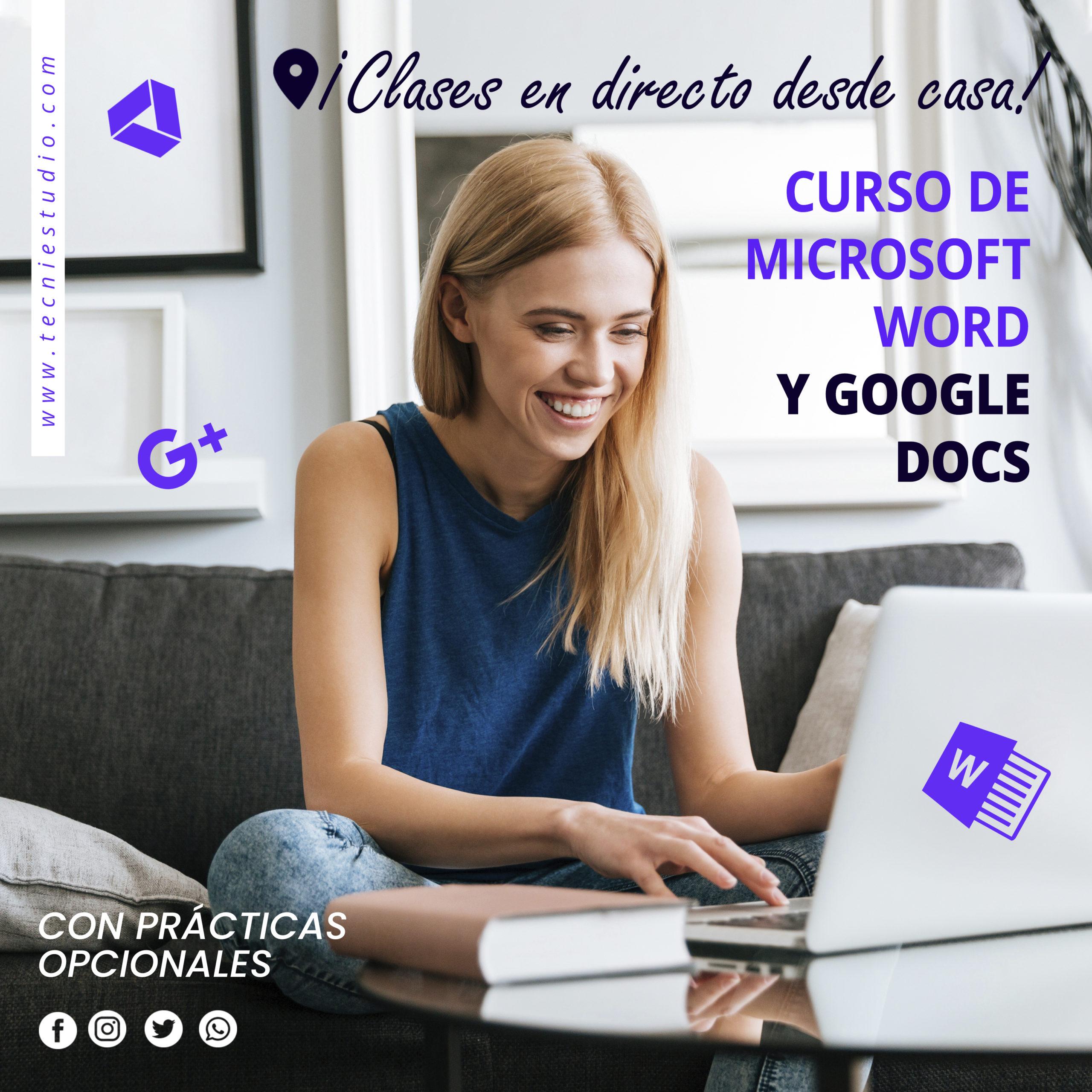 CURSO DE MICROSOFT WORD Y GOOGLE DOCS